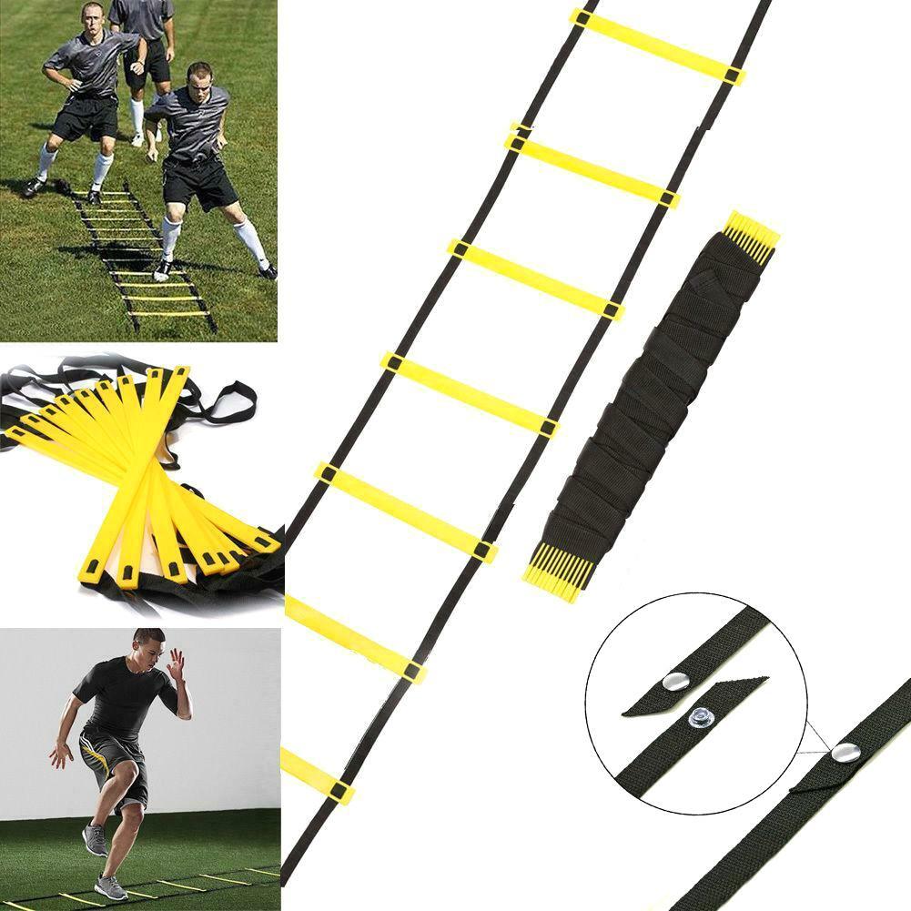 6-12 Rung 3-6m Nylon Strap Agility Speed Power Training Ladder Soccer Fitness Exercise Rope Football Speed Ladder Training Stair