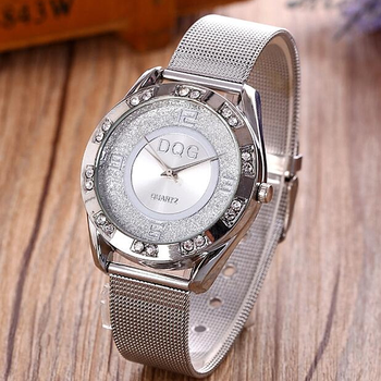 Reloj Mujer 2020 New women watches Luxury Brand DQG Quartz Wristwatches Stainless Rhinestone Dress Watch women Zegarek damski olevs women watches watch men fashion luxury rhinestone dress couple watch quartz watchreloj mujer saat relogio zegarek damski