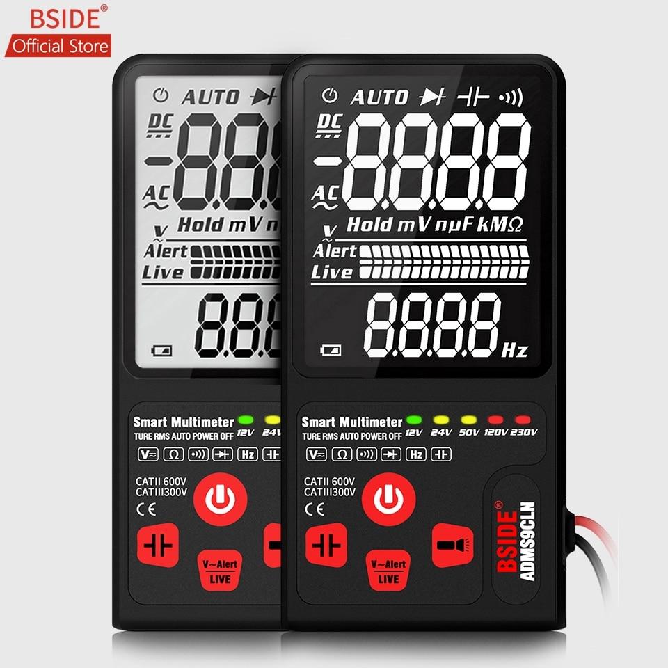 "BSIDE Upgraded Multimeter Digital Voltage Tester 3.5"" EBTN LCD 3-Line Display  TRMS Ohm Hz With Analog Bar& 5 LED Indicator DMM"