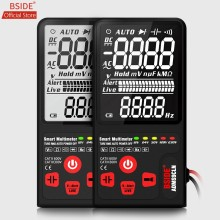 "Bside Verbeterde Multimeter Digitale Voltage Tester 3.5 ""Ebtn Lcd 3-Line Display Trms Ohm Hz Met Analoge Bar & 5 Led Indicator Dmm(China)"