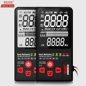 """Testeur de tension numérique multimètre amélioré BSIDE 3.5 """"affichage à 3 lignes EBTN LCD TRMS Ohm Hz avec barre analogique et 5 indicateur LED DMM(China)"""