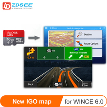 Gps карта micro SD карты 16 Гб для windows ce 6,0 новая последняя карта бесплатное обновление для gps-навигации Европа/Россия/Испания и т. Д