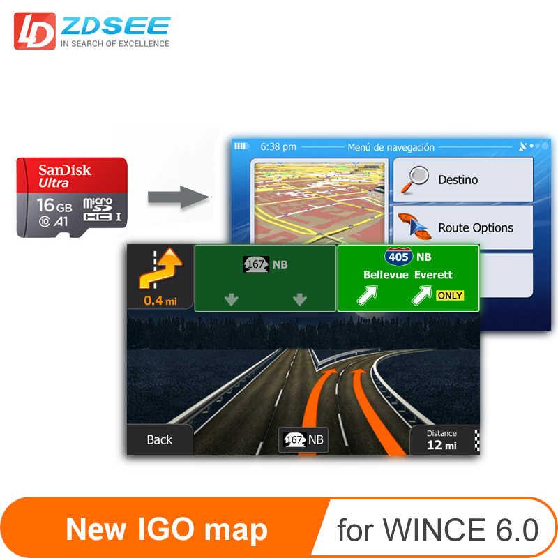 GPS harita mikro SD kart 16GB windows ce 6.0 yeni son harita ücretsiz güncelleme Gps navigasyon için avrupa /rusya/İspanya vb
