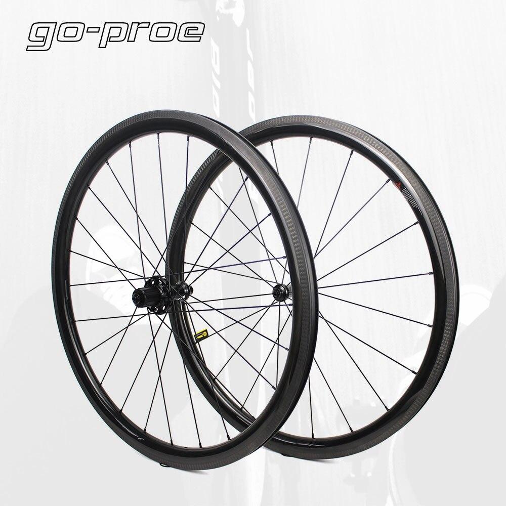 700C 38mm clincher bike carbon road bicycle wheels carbon wheelset