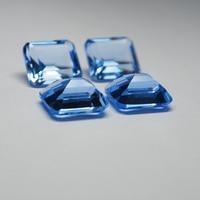 12*14 mm 5 Piece octagon Hydrothermal Quartz Aquamarine crystal Loose gemstone for jewellery making 2