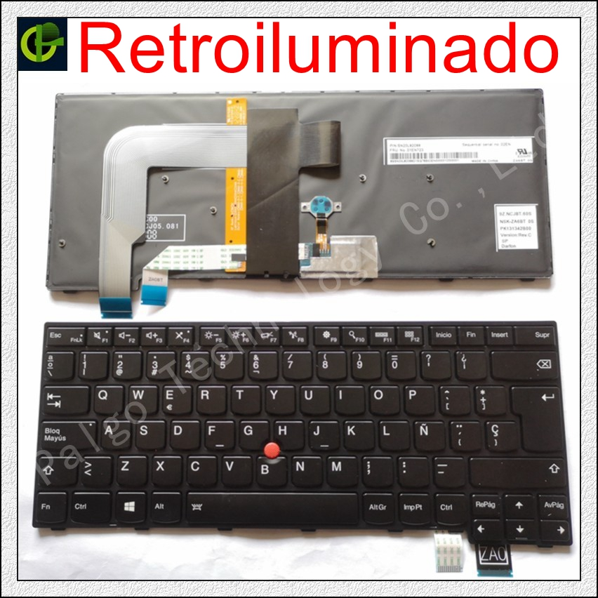 Spanish Backlit Keyboard For LENOVO T460S T460P T470S T470P ThinkPad 13 2nd (20J1-20J2) New S2 (2nd Gen 20J3) Latin LA SP Laptop