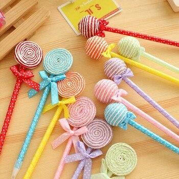 цена 6pcs/lot Hot Novelty Lollipop Series Ballpoint Pen  Colorful Cartoon Ball Pens   Canetas Escolar School Supplies Stationery онлайн в 2017 году