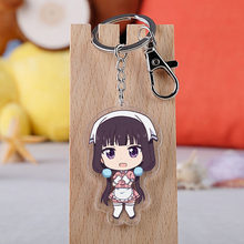 אנימה תערובת S Keychain Cartoon איור Sakuranomiya מייקה תערובת S אקריליק תלוי Keyring(China)
