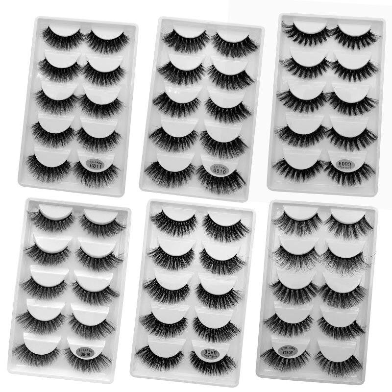 Wholesale Eyelasehes 50 Pairs 3D Mink Hair False Eyelashes Natural/Thick Long Eye Lashes Wispy Makeup Beauty Extension Tools