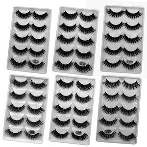 Image 1 - Wholesale Eyelasehes 50 pairs 3D Mink Hair False Eyelashes Natural/Thick Long Eye Lashes Wispy Makeup Beauty Extension Tools