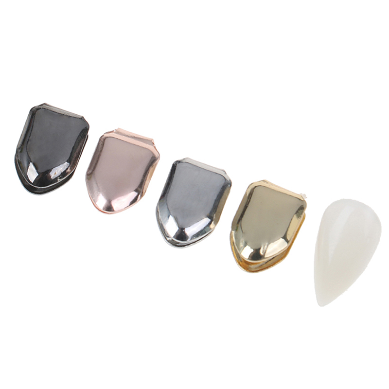 1PCS Small Single Tooth Cap Gold Plated Hip Hop Teeth Grillz Caps Top Or Bottom Grill False Teeth Whitening Supplies