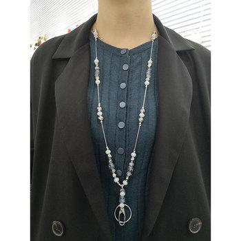 цена на Black White Beads Lanyard ID Lanyard for Keys ID Badge Holder Women's Fashion Keychain Holder Office Accessories