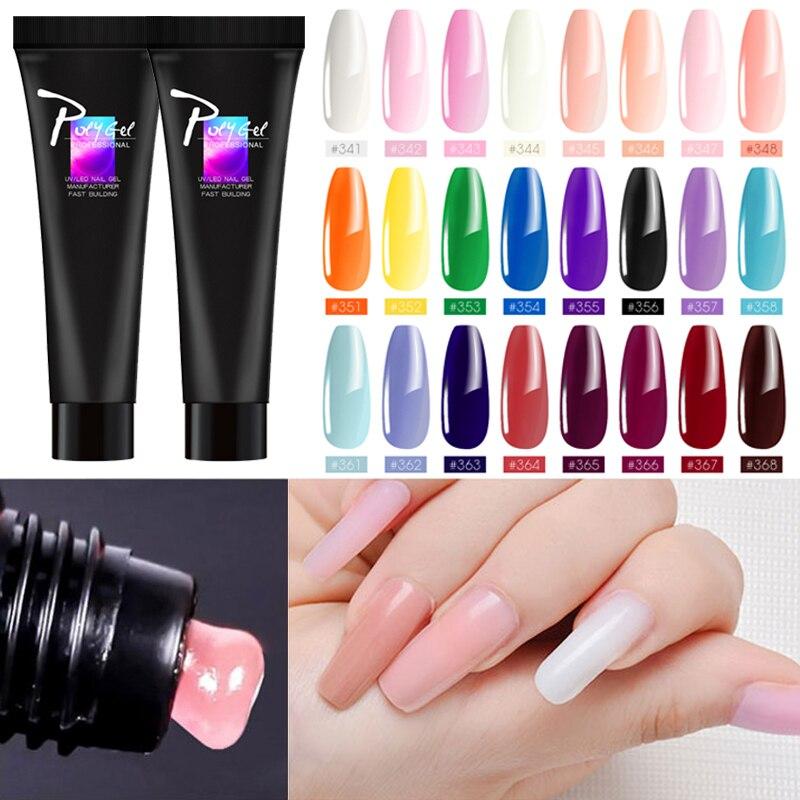 Zation Pink Poly Gel UV Soak Off Gel Polish Slip Solution Nail Acrylic PolyGel Finger Extension Nail Tools Nail Art Tips