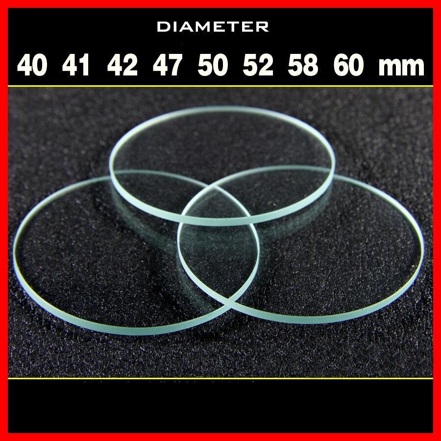 1PCS Flat Lens Torchy Lens For Glare Flashlight Lamp Glass Diameter 40 41 42 47 50 52 58 60mm Thickness 1.8mm Glass Lens