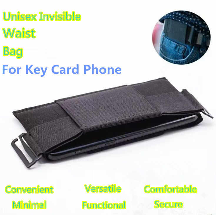 Unisex Waist Bag The Minimalist Invisible Wallet Mini Pouch For Key Card Cell Phone Portable Pouch Card Storage Bag