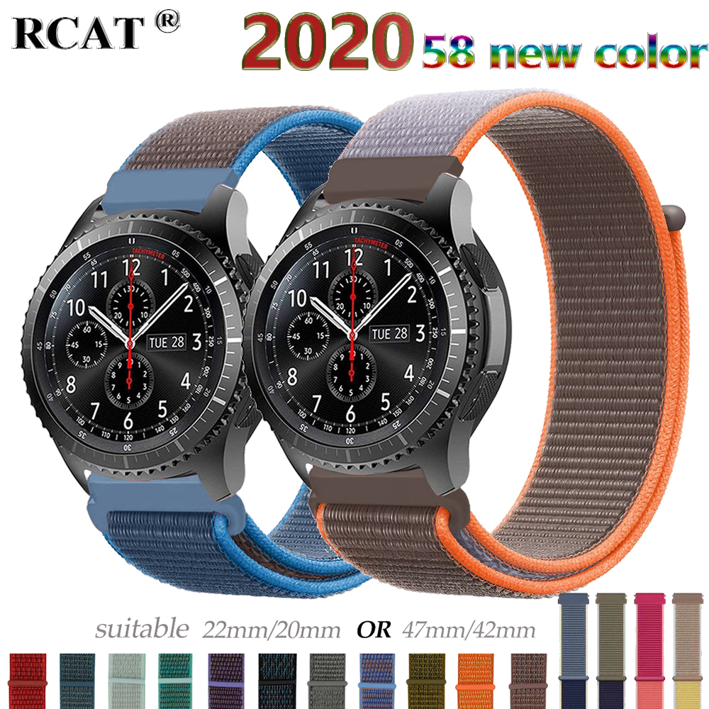 Gear S3 Frontier Strap For Samsung Galaxy Watch 46mm 42m Active 2 Nylon 20 22mm Watch Band Amazfit Bip Huawei Watch Gt 2e Strap