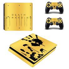 Ölüm örgülü PS4 Slim cilt Sticker çıkartması vinil Sony Playstation 4 konsolu ve kontrolörleri PS4 Slim cilt Sticker