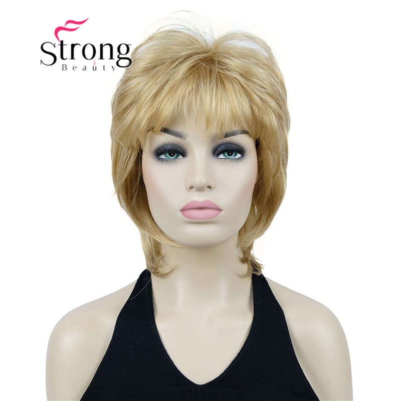 StrongBeauty Bady Wavy Glonden Blonde Neck Length Synthetic Wig for Women's COLOUR CHOICES