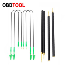 4pcs/Set BDM Probe Pens 4pcs Pins with Connect Cable Replacement LED BDM FRAME OBD2 Programming for KTAG/KESS ECU Board