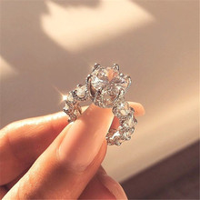 WUKALO 2020 New Fashion Silver Color Rhinestone Crystal Love