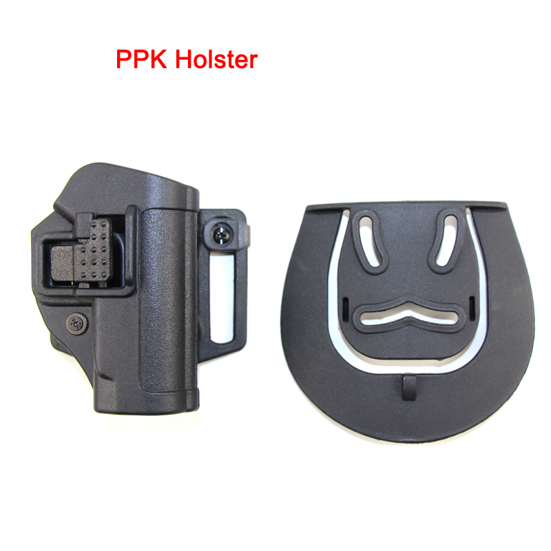 Tactical CQC PPK Holster Case For WALTHER PPK-L PPK/S 2238 Gun Airsoft Belt Pistol Hunting Right Hand Carry