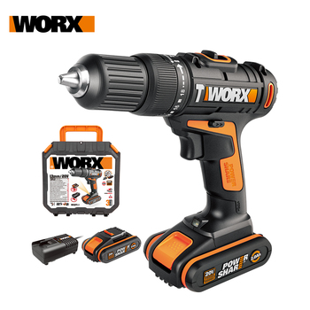 Worx 20V Cordless Impact Drill Driver WX371.1 Electric Drill Screwdrivers Rechargeable+LED light Household Handheld Power Tools drill driver rechargeable sturm cd3212l