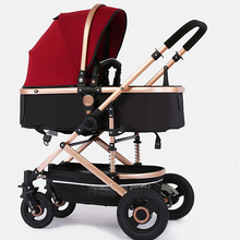 Light weight travel Baby stroller 7pcs gifts portable can sit and lying folding baby high landscape stroller high landscape baby stroller light umbrella folding baby carriage can sit baby lying on the plane
