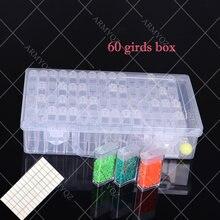 60 слотов большая коробка для хранения diy алмазный инструмент