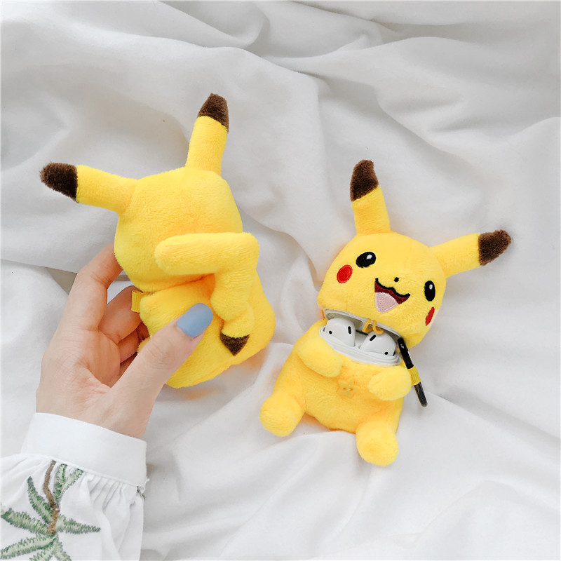 Cute Plush Doll For Apple Airpods Case Funny Cartoon Bluetooth Earphone Cover Warm Fuzzy For Air Pods 2 1 Cloth Charging Cases
