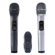 New-USB 3.5mm 6.35mm Wireless Microphone Megaphone Handheld Mic with Receiver for Karaoke Speech Loudspeaker(China)