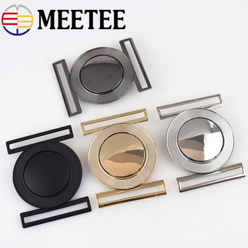 2pcs Meetee 50mm Metal Alloy Belt Buckle Decor Buckles for Women's Coat Down Jacket DIY Clothing Hasp Bags Buttons Accessories