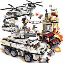 ENLIGHTEN World War Cannon Tank Armored Car Army Swat Team Figures Building Blocks Sets Kids Compatible