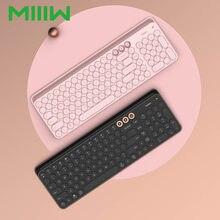 MIIIW-teclado inalámbrico con Bluetooth, modo Dual, para Windows, Mac, Android iOS, 102 teclas, 2,4 GHz, alta calidad, multisistema, Compatible