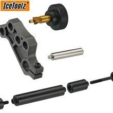 Icetoolz e271 bicicleta disco de montagem frente ferramenta ferramenta de reparo da bicicleta disco a pilar b pilar ferramenta