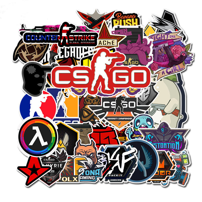50pcs Lot CS GO Game Stickers Vinyl Laptop Stickers For Boys On Macbook Skateboards Luggage Cars Pencil Box Computer Deco Decals
