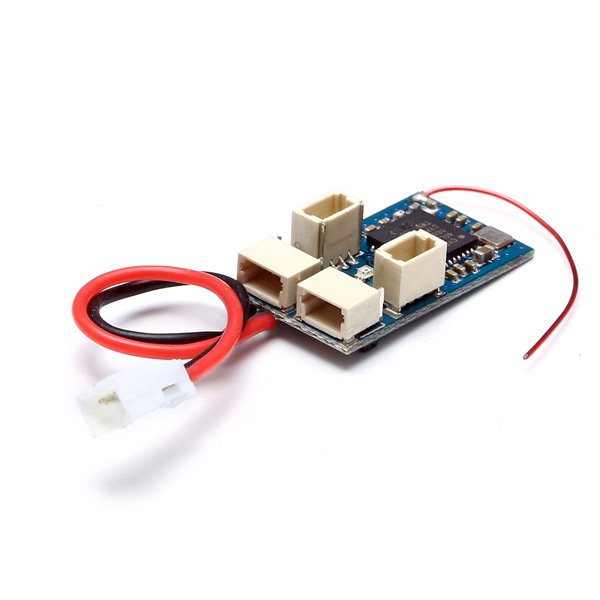 2.4G 4CH Micro Low Voltage Compatible Receiver For DSM2 DSM Built-in Brushed ESC Transmitter Remote Control Drone Part
