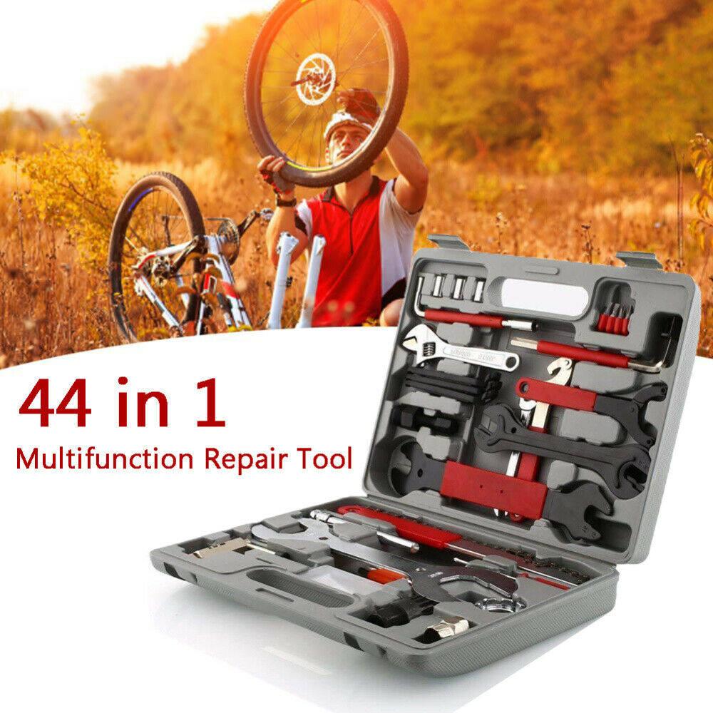 44Pc Universal Bicycle Repair Kit Cycling Mountain BMX Bike Crank Arm Extractor