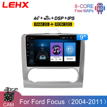 LEHX 2DIN Radio GPS Navigation Car Android 9 Inch 2GB RAM multimedia Player For Ford Focus Exi AT 2004 2005 2006 2011 2din DVD