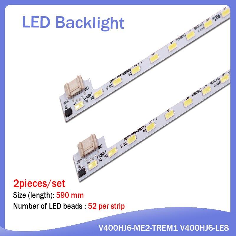 LCD-40V3A M00078 N31A51P0A N31A51POA V400HJ6-LE8 New LED Backlight V400HJ6-ME2-TREM1 1 Piece=49cm(490mm) 52 LEDs