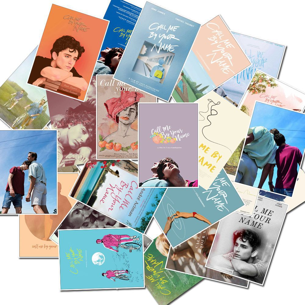 25Pcs/pack Award Winning Film Call Me By Your Name Stickers For Mobile Phone Car Moto Laptop Luggage Bicycle Skateboard Decal