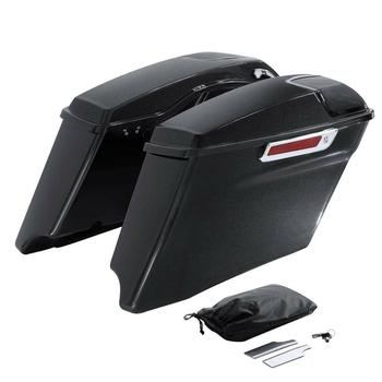 "Motorcycle 4"" Painted CVO Hard Saddlebags For Harley Touring Road Glide FLHT FLHTCU 14-19 15 16 17 18"