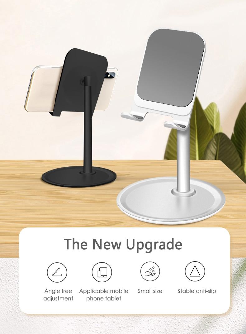 Universal Adjustable Cell Phone Desk Stand Holder - Aluminum Desktop Desk Stand Mobile Phone Desktop Stand  Dropshipping