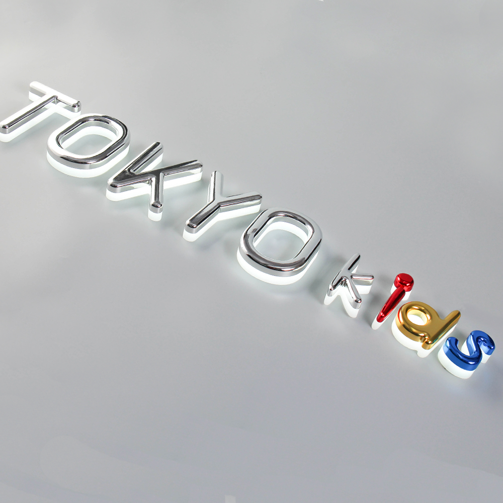 Backlit-Signs Halo-Lit-Letter Acrylic Vacuum-Coating Colorful for Exterior Chrome