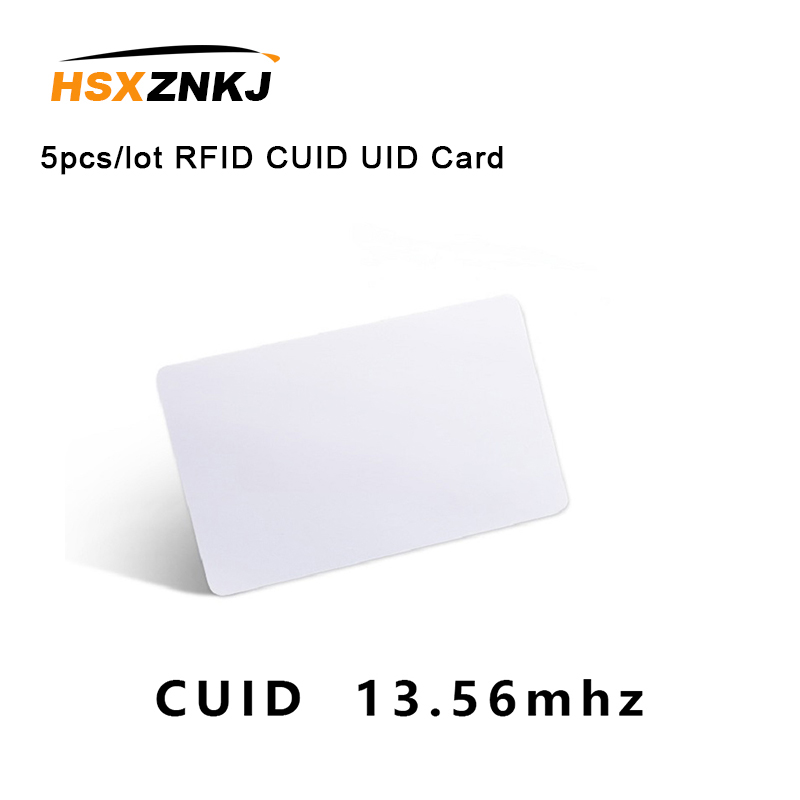 5pcs/lot RFID CUID UID CARD Modify UID Changeable NFC MF 1k S50card Block 0  13.56MHz