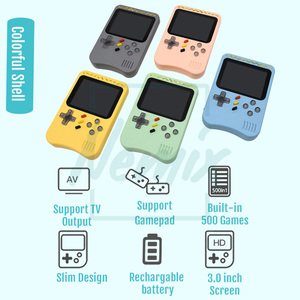 Image 2 - Video Game Console, Handheld Portable Console,  Built in 400 Retro Games, Support Double Player, Gift For Kids, 2020 New Upgrade