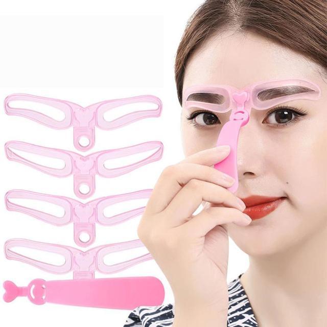 Three-generation Eyebrow Card Hand-held Thrush Card Beginner Thrush Aid 4 Eyebrow Beauty Tools  Easy To Operate Makeup 4
