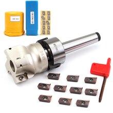 Nuovo Mill Cutter MT2 M10 & 50 millimetri Viso End + 10pcs Inserto In Metallo Duro APMT1604 Laminatoio di CNC Fresa inserto Kit di Macchine Utensili