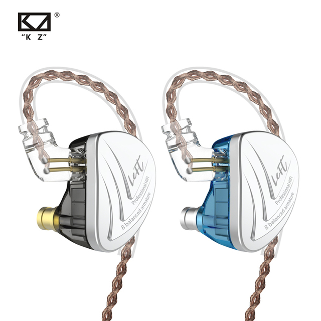 KZ auriculares AS16 de 16BA con armadura equilibrada audífonos HIFI con Monitor de graves, cancelación de ruido para teléfono móvil