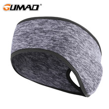 Outdoor Women Fleece Ponytail Sport Headband Running Fitness Yoga Warm Gym Cycling Tennis Sweatband Hair Sweat Headscarf Safety(China)