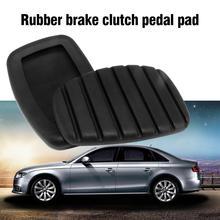 1 guma do komputera sprzęgło pedał hamulca Pad dla Renault antypoślizgowy pedał hamulca pedał hamulca profesjonalne akcesoria samochodowe tanie tanio rubber black